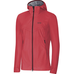 GORE WEAR H5 Windstopper Insulated Hooded Jacket Women hibiscus pink/chestnut red